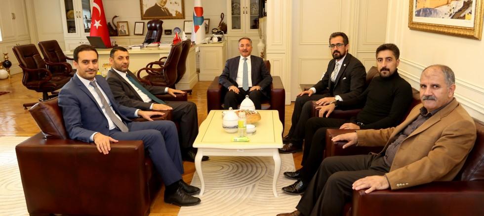 Ağrı Baro Başkanı ve Yönetim Kurulu Üyelerinden  Rektör Karabulut'a Ziyaret