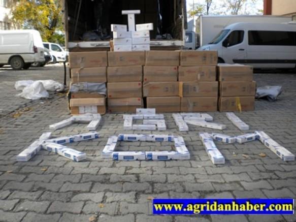 Ağrı'da 161.000 Paket Kaçak Sigara Ele Geçirildi