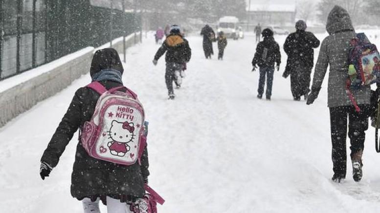 Ağrı'da Kar Yağışı Bazı İlçelerde Okulları tatil ettirdi