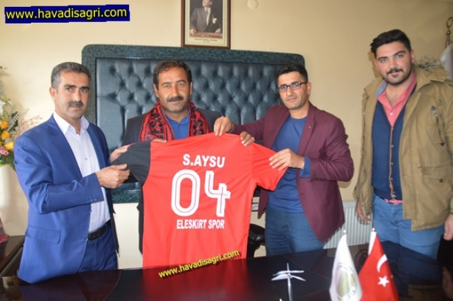 Başkan Aysu'dan Eleşkirt Spora Büyük Jest