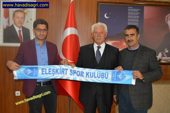 Eleşkirt Spor Yönetiminden Başkan Sarı'ya Ziyaret
