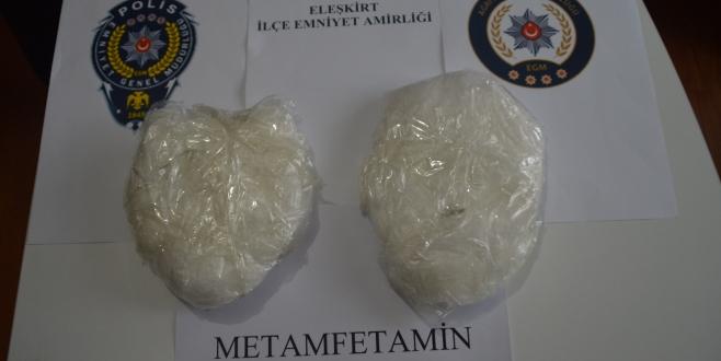 Eleşkirt'te 1 Kilo Metanfetamin Yakalandı