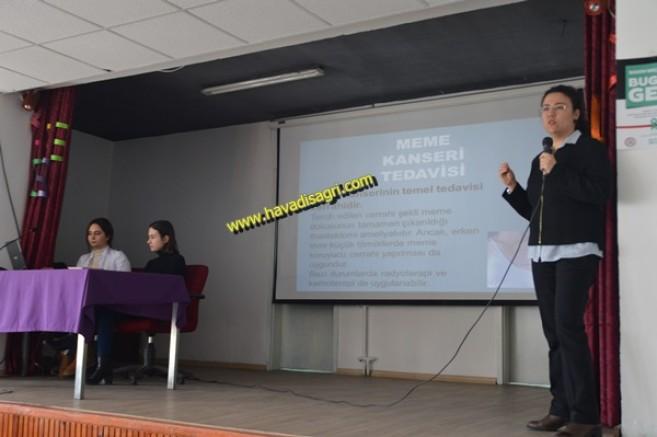 Eleşkirt'te Kanser İle İlgili  Halkı Bilgilendirme Etkinlikleri Yapıldı