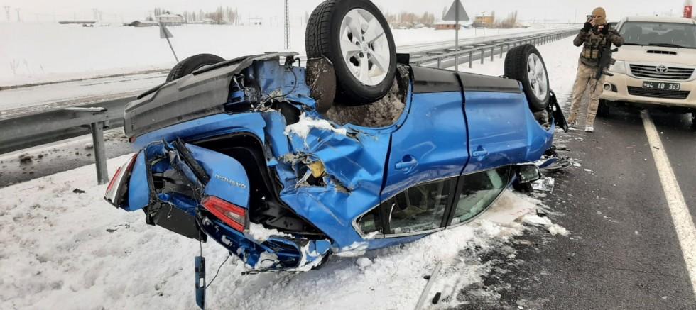 Eleşkirt teTrafik Kazası:1 yarali